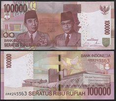 Original 2009 Indonesia 2000 2,000 Rupiah P-148a UNC Banknotes