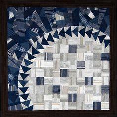 Swedish quilt: Checks and Stripes quilt (Rutigt och randigt) by Anita Fors | Taktil Textil (Gothenburg, Sweden) : workshop