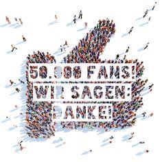 Unglaublich: Unsere Community auf Facebook hat inzwischen mehr als 50.000 Fans - und das ganz ohne Werbung, nur durch unseren Content. Und die vor zwei Tagen gestartete Bewerberbibel auf Facebook hat auch schon rund 600 Fans. Wir sind platt - und sagen Ihnen allen von Herzen: DANKE!