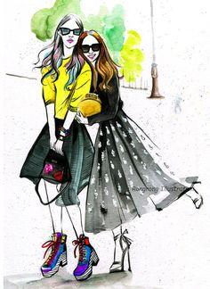 Custom illustration  fashion illustration by RongrongIllustration #customillustration #fashionillustration #customgift #papergift #fashionsketch