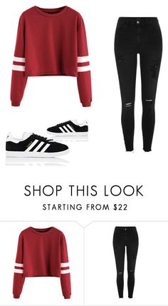 """Outfit random"" by thebestmery on Polyvore featuring moda, River Island e adidas"