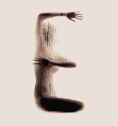 alfabeto corporal arte tipografia 04