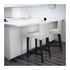 HENRIKSDAL Bar stool with backrest - 66x47 cm - IKEA