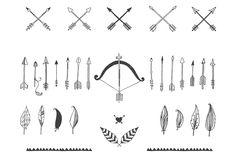 40 Hand drawn tribal elements by Tatiana Karpenko on @creativemarket