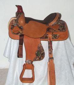 Camo ALL Leather Roper Saddle-Mossy Oak - MHC310 <33333