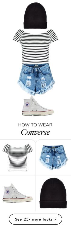 """Striped Shirts"" by altinaxoxo on Polyvore featuring Lipsy, Converse, New Look and stripedshirt"
