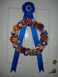 Wreath for the 4th and Ribbon Tutorial
