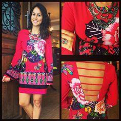 Lindo vestido da Oh, boy! #look #winter #lojavoila