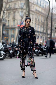 Floral Dress   Strappy Heels   Street Style   Fashion Week