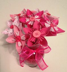 Pink Origami/Kusudama Flower Bouquet/ Flower by kreationsbykia, $18.99