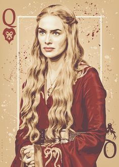 Queen Cersei Lannister - Game of Thrones - ratscape Cersei Lannister, Daenerys Targaryen, Game Of Thrones Cards, Got Game Of Thrones, Game Of Thrones Cersei, Xena Warrior Princess, Winter Is Here, Winter Is Coming, Carte Got