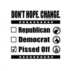 Don't Hope. Change. Vote Liberty T-Shirt. Patriot T-Shirt.