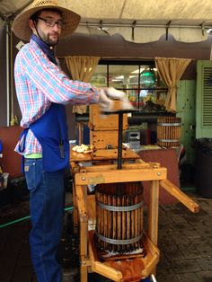 Apple press! Portland Nursery.