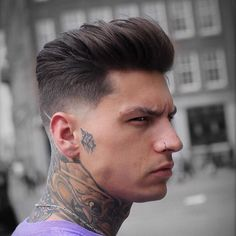 Short Sides, Long Top Hairstyle - Thick Textured Medium Hair + Low Fade Haircut - Best Men's Hairstyles: Cool Haircuts For Men. Most Popular Short, Medium and Long Hairstyles For Guys Cool Hairstyles For Men, Cool Haircuts, Hairstyles Haircuts, Top Haircuts For Men, Female Hairstyles, School Hairstyles, Retro Hairstyles, Trending Hairstyles, African Hairstyles