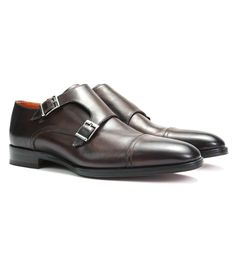 Calfskin Monk Strap Shoe by Matteo Massimo $450 Beautifully made dress shoes are always in style- this sophisticated, two buckle, monk strap, cap toe shoe is no exception. Hand stitched with silver tone hardware, this elegant pair will always command a place among formal wear. | Shop GOTSTYLE.ca