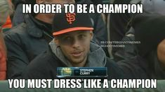 Stephen Curry at a San Francisco Giants Game
