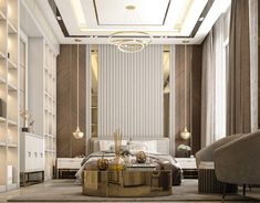 living room with Neoclassic style on Behance