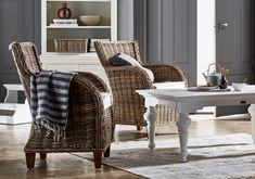 The Nova Solo Baron Arm Chair with Seat Cushion - Set of 2 brings you closer to nature with its natural woven wicker rattan construction. Wicker Shelf, Wicker Table, Wicker Sofa, Rattan Furniture, Dining Arm Chair, Living Room Chairs, Lounge Chairs, Wicker Baskets, Wicker Man
