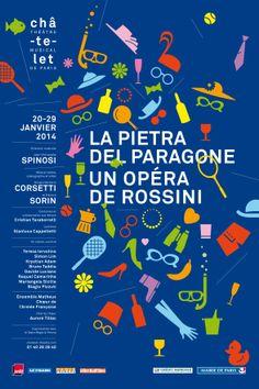 La pietra del paragone par Philippe Apeloig. Pierrick Sorin - Rossini