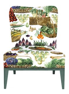 Delicious vegetable print by Pierre Frey.
