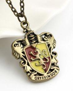 Gryffindor Hogwarts Crest Harry Potter necklace