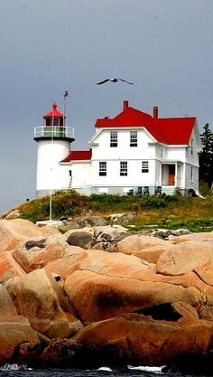 Heron Neck Light on Green's Island, Vinalhaven, Maine, U.S