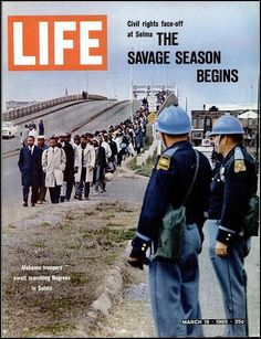 "On ""Bloody Sunday,"" March 7, 1965, John Lewis and Hosea Williams led 600 peaceful marchers across the Edmund Pettus Bridge in Selma, Alabama, where they were brutally attacked by state and local police with billy clubs and tear gas"
