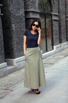 Graceful amy green Wide leg Long Linen Pants Skirt(more colour and size choice)-D35 on Etsy, $58.00