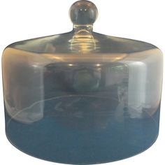 Princess House Heritage Cake Dome Clear Glass Gray Cut Floral