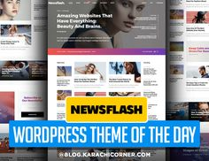 Newsflash – A Fresh Multi-Concept News and Magazine Theme