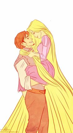 Disney Princess Rapunzel with Flynn Disney Rapunzel, Frozen Disney, Rapunzel Y Eugene, Disney Magic, Disney Amor, Arte Disney, Disney Fan Art, Disney Love, Rapunzel And Flynn
