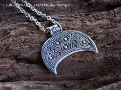 Witchcrafts Artisan Alchemy - LUNULA Slavic Moon Goddess Sterling Silver Pendant Necklace, (http://www.witchcraftsartisanalchemy.com/lunula-slavic-moon-goddess-sterling-silver-pendant-necklace/)