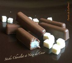 Sticks chocolat et noix de coco