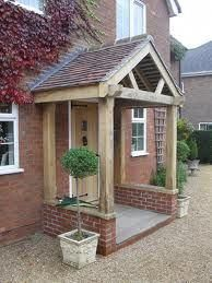 this portico is not bad if it had stoep either side Front Door Canopy, Porch Canopy, Front Door Porch, Side Porch, Front Stoop, Front Doors, Porches, House With Porch, House Front