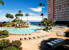 Pool at the Ka'anapali Beach Club in Maui, Lahaina, HI. Where I will be staying! #resortime #hawaiipoolsidecontest