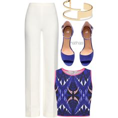 A fashion look from July 2015 featuring Diane Von Furstenberg pants, H&M sandals and Sole Society bracelets. Browse and shop related looks.