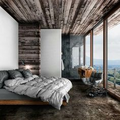 CGI House by lovley Jane Balaban - Architecture and Home Decor - Bedroom - Bathroom - Kitchen And Living Room Interior Design Decorating Ideas - Nordic Interior Design, Scandinavian Interior, House Of Pain, Interior Natural, Diy Holz, Nordic Style, Interiores Design, Bedroom Decor, Fancy Bedroom