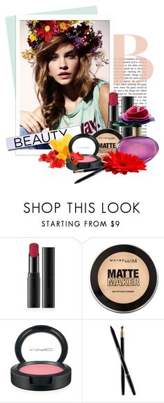 """""""beauty Gift Guide"""" by anna-anica ❤ liked on Polyvore featuring beauty, GALA, SUQQU, Maybelline, MAC Cosmetics and Chanel"""