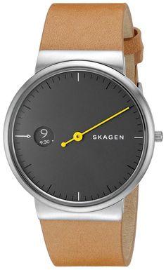 Skagen Men's Ancher Light Brown Leather Watch - Online Shopping in Pakistan: Electronics Skagen Watches, Analog Watches, Fossil Watches, Men's Watches, Jewelry Watches, Best Watch Brands, Cool Watches, Black Watches, Unique Watches