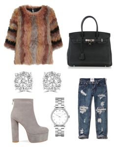Eliza by karon-stylez on Polyvore featuring polyvore, fashion, style, Topshop, Abercrombie & Fitch, Hermès, Effy Jewelry, Marc by Marc Jacobs and clothing