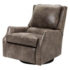 Alex 30  Recycled Leather Swivel Recliner in Palance Marble  sc 1 st  Pinterest : arhaus alex recliner - islam-shia.org