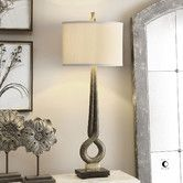 """Found it at AllModern - Jandari 38"""" H Table Lamp with Drum Shade"""