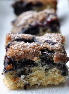 Blueberry Lemon Crumb Cake (142 Calories & LITE)... For My Birthday! | Honey, What's Cooking?