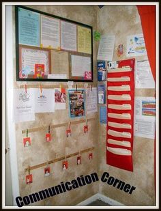 Home Daycare- Public Photo Club -   BabyCenter I like the idea of the large frame corkboard with all the forms inone   place by the front door, and the file folders
