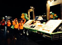 """Edwardsville Halloween Parade...theme was 'got game?""""  Our float was a combination of Scrabble & Monopoly."""