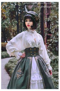 【予約】Unfinished コルセット付き刺繍スカート Surfacespell|サーフェイセスペル
