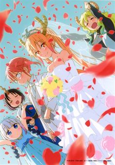 Tohru, Kobayashi, Lucoa, Kanna y Elma