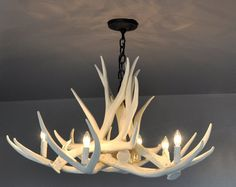 Antler Chandelier D6 Faux Antler Chandelier by TheShabbyAntler, $359.00