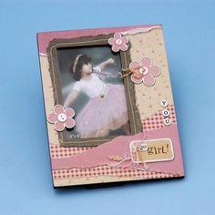3-D Flower Girl Picture Frame