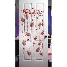 Amazon.com - Bloody - Beware - plastic Halloween Wall or Door Decor (5 feet x 30 inch)